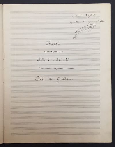 Used; Like New/Used; Like New. Autograph musical manuscript of one scene from the important French c...