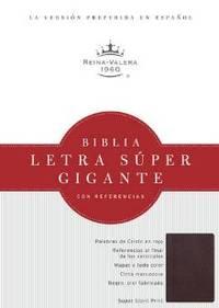 RVR 1960 Biblia Letra Super Gigante, borgona piel fabricada (Spanish Edition)