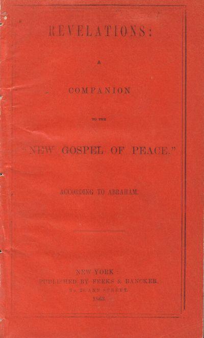 New York: M. Doolady. Good. 1863. Pamphlet. Howes gives authorship to Richard G. White. Bright orang...