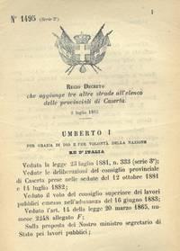 che aggiunge tre altre strade all\'elenco delle provinciali di Caserta.