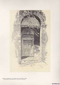 Doorway Old Town Hall, Hartford , a Vintage Print by O. R. Eggers 1922