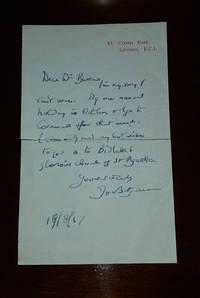 Hand Written Letter - **Signed**