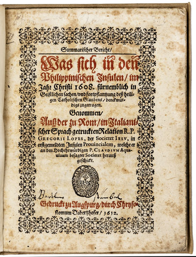 PRINTED IN AUGSBURG BY DABERTZHOFER Bound in later vellum; 4to., (8) ff,94 ff. Printed title in red ...