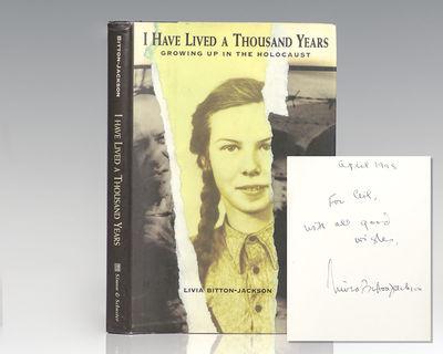 New York: Simon and Schuster, 1997. First edition of this powerful memoir. Octavo, original half clo...