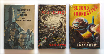New York: Gnome Press, 1951. An exceptional and RARE set, all three books having been SIGNED AND INS...