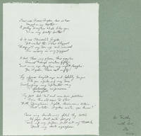 [Autograph Manuscript, Inscribed and Signed, of:] DEEDEE BYRDE CALLING WEE JENNIE WRENNE