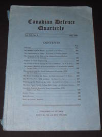 Canadian Defence Quarterly: Volume XII, No 4, July 1935