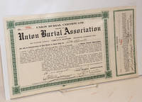 image of Union Burial Certificate