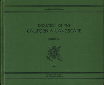 San Francisco: Department of Natural Resources, State of California, 1952. First edition. Cloth. A v...