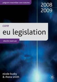 Core Statutes on EU Legislation (Palgrave Core Statutes)