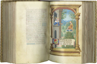CHARMING BOOK OF HOURS WITH CLEAN MARGINS, A SOFT PALETTE, AND A LOVELY ARMORIAL BINDING. Illuminate...