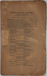 Journal of the Assembly of the State of New York by  Governor Daniel D] [Tompkins - Paperback - First edition - 1809 - from Antipodean Books, Maps & Prints and Biblio.com