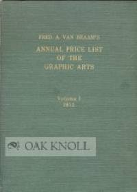 Amsterdam: Minerva Publishing Co, 1952. cloth. 4to. cloth. vii, 92 pages. Auction records.