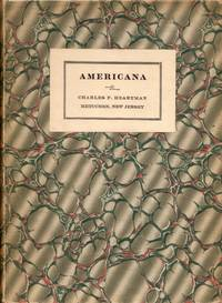 Americana: Printed and in Manuscript