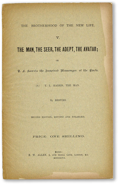 London: E.W. Allen, 1897. Second Edition, Revised and Enlarged. Octavo (24cm.); publisher's grey pri...