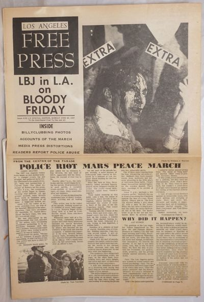 Los Angeles: Los Angeles Free Press, 1967. Newspaper. 8p., complete in one section; 17.5x11.5 inch t...