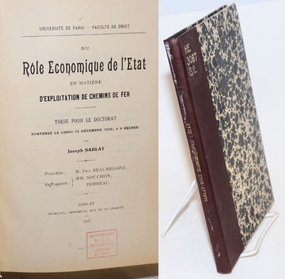 Paris: Imprimeur Michelet, 1903. Hardcover. 157p., ex-library with all the usual markings, small clo...