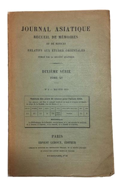 Paris: Ernest Leroux, 1910. Paperback. Very Good. -593 pp. Softcover in original wrapper. 23cm. Back...