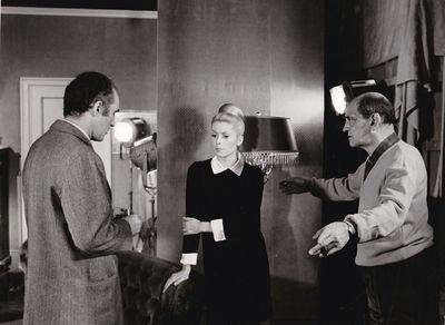 Paris: Robert et Raymond Hakim / Sud-Films Distribution, 1967. Vintage borderless photograph of Mich...