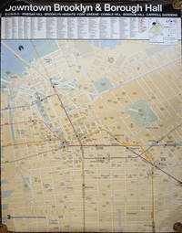 image of Downtown Brooklyn_Borough Hall.   MTA wall map after 9/11