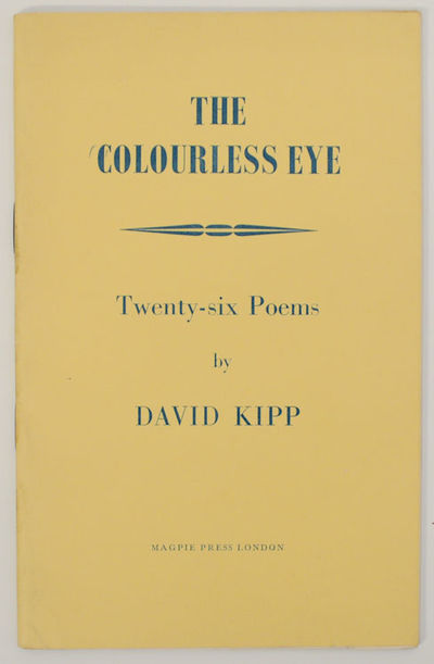 London: Magpie Press, 1968. First edition. Softcover. 28 pages. A collection of 26 poems. A clean ve...