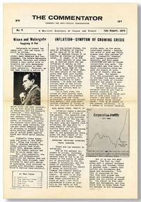 The Commentator. A Marxist Analysis of Issues and Events (Formerly the Anti-Fascist Commentator). No. 6, July-August, 1974