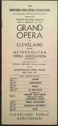 The New York Metropolitan Grand Opera in Cleveland
