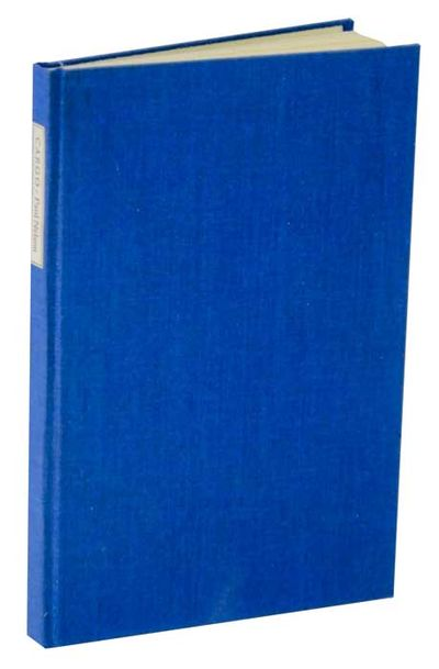Iowa City, IA: The Stone Wall Press - The Seamark Press, 1972. First edition. Hardcover. One of only...