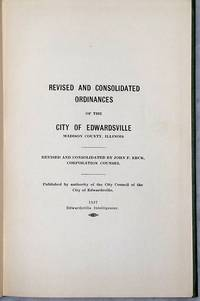 image of Revised and Consolidated Ordinances of the City of Edwardsville, Madison County, Illinois