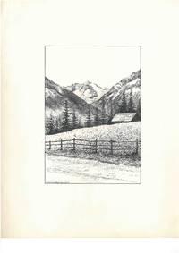 Großvenedigergruppe [Hohe Tauern, Tirol, Salzburg, Südtirol, Österreich, Italien], ca. 1950. Schwarze Tusche und Bleistift auf weißem Karton. Vom Künstler l. u. mit schwarzer Tusche betitelt.