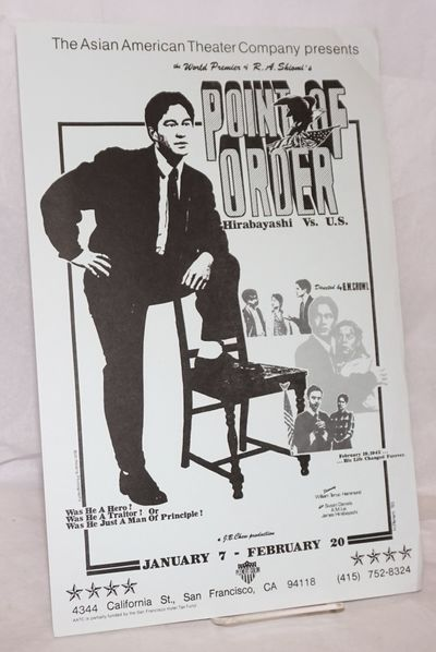 San Francisco: Asian American Theater Company, 1983. Single sheet poster 11x17 inches, illustration ...