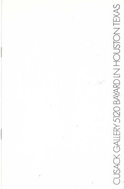 11 black & white illus. pp. 8vo, printed wrappers, staple-bound. Houston, Texas: 1975. A very rare p...