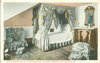 Martha Washingtons Bedroom, Mt. Vernon Mansion, VA, 1920s unused Postcard