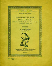 Inauguration du buste Jean Cocteau a Milly-la-Foret (Chapelle Saint-Blaise des Simples), le vendredi 16 octobre 1964