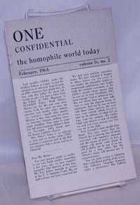 image of One Confidential: the homophile world today vol. 9, #2, February, 1964 [mis-stated as lx or 60!)
