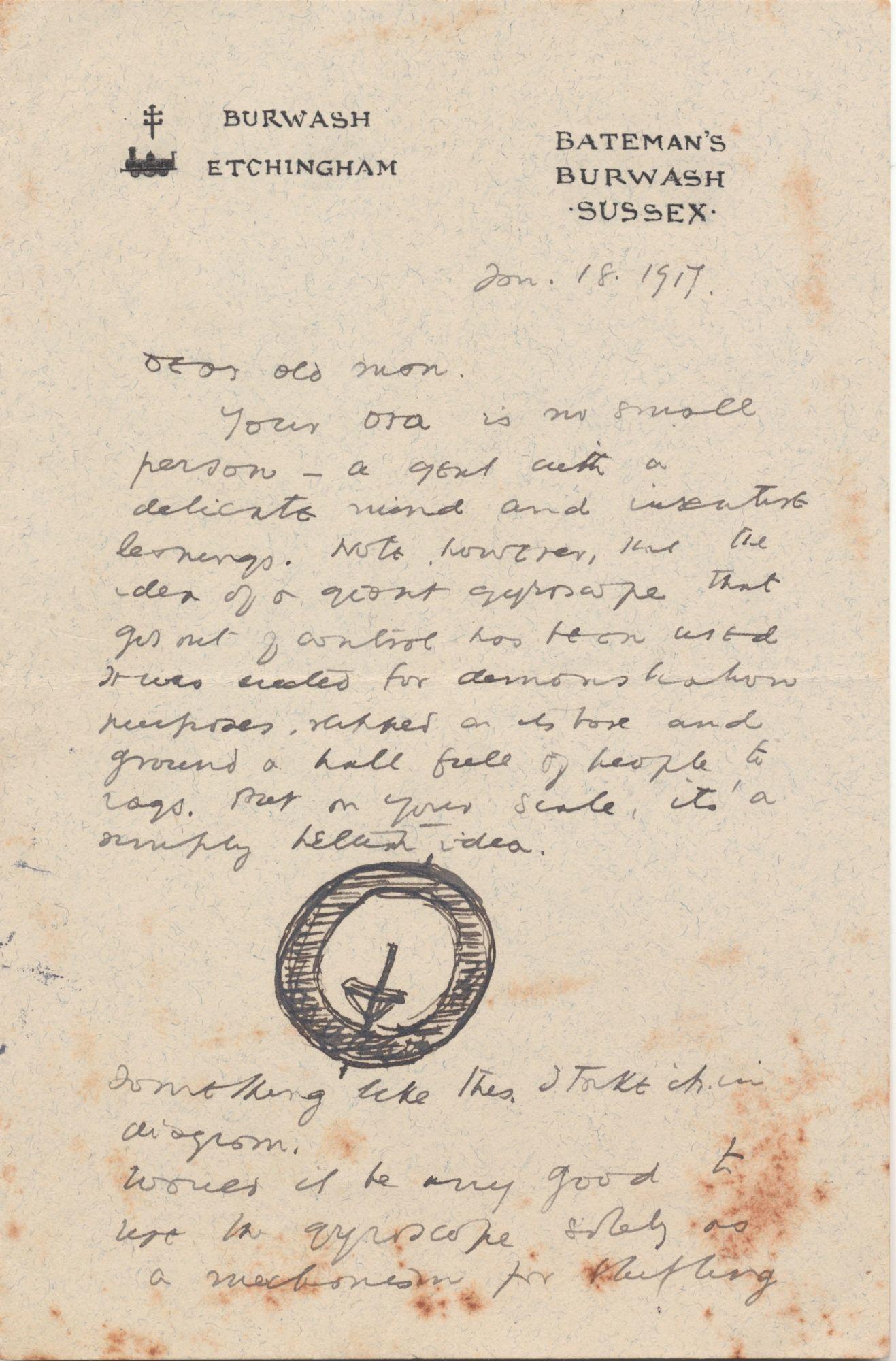 conversacion Sur olvidadizo  autograph letter signed by rudyard kipling - - Biblio.com