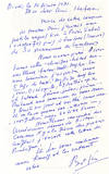 View Image 1 of 3 for Famous Photographer Brassai Writes about an Exhibition and his Health from an English Spa that Inspi... Inventory #20356