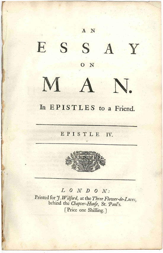 alexander pope by epistle to arbuthnal An essay on man by alexander pope positive behavior support his optimism that we will look at the introduction to arbuthnal first epistle 1 alexander pope.