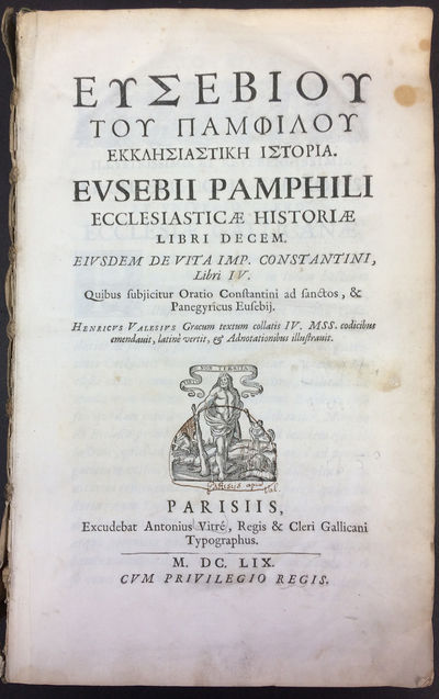 Parisiis : Excudebat Antonius Vitre, 1659. First edition, thus. Vellum blind stamped with device and...