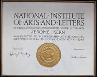 National Institute of Arts and Letters Membership Certificate