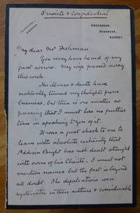 """image of Autograph Letter Signed to """"My dear Mr. Frohman"""""""