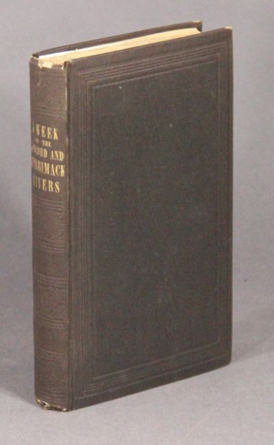 Boston & Cambridge: James Munroe & Company. New York: George P. Putnam, , 1849. First edition, and o...