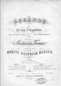 Das Alte Wort and Vogele Im Tannenwald No. 1 Op 14 by Hauser M.H - from Music by the Score and Biblio.co.uk