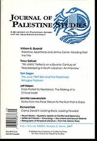 Journal of Palestine Studies (Vol XXXVI, No. 3, Spring 2007)