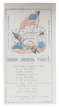1863 CALIFORNIA UNION JUDICIAL TICKET