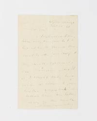 An autograph letter signed ('M. van Buren') to 'My dear Gow'