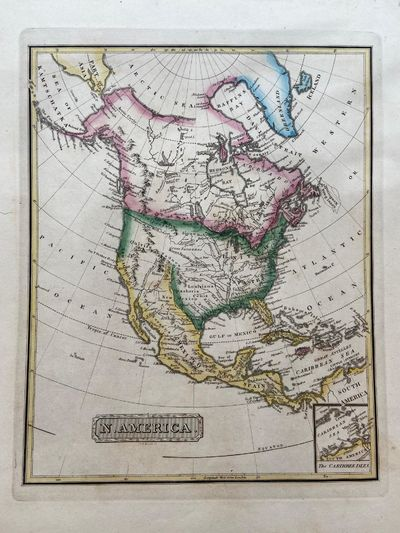 Philadelphia, 1822. unbound. Map. Engraving with original hand coloring. Image measures 10.5