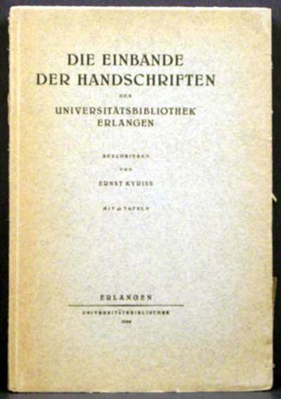 Germany: Erlangen Universitatsbibliothek, 1936. 1st. Original Wraps. Collectible; Very Good. Handsom...