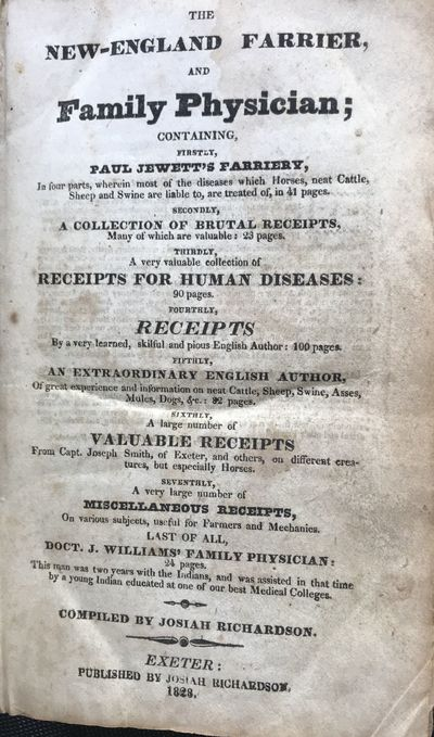 Exeter, : Published by Josiah Richardson, 1828. First edition. 18 cm. 444, 24 pp. Contemporary calf,...