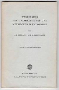 Worterbuch Der Grammatischen Unt Metrichen Terminologie